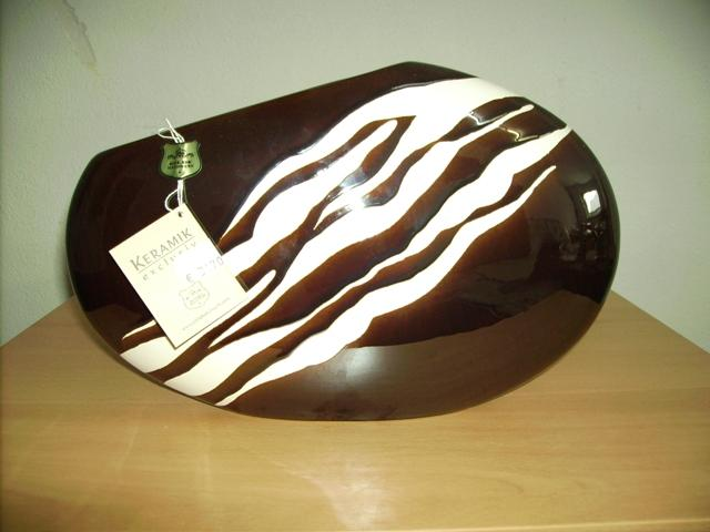 Gilde Keramik Vase oval